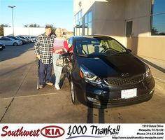 Happy Anniversary to Francis Gill on your 2013 #Kia #Rio from Constatine Boury and everyone at Southwest Kia Mesquite! #Anniversary