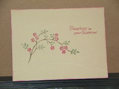 Sympathy card - Stampin' Up supplies