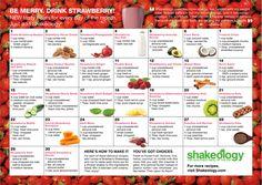 Strawberry Shakeology® Recipe Calendar + Bonus Recipes! #shakeology #recipes #strawberryshakeology