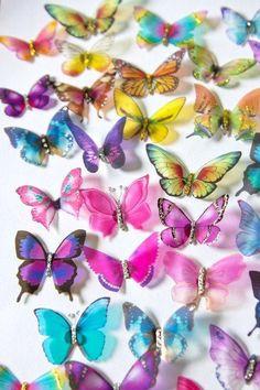 10 Small Stick on Butterflies, Wedding Cake Toppers, 3D Wall Art, Scrapbooking, Wall Decals - http://wedding-cake-topper.com/10-small-stick-on-butterflies-wedding-cake-toppers-3d-wall-art-scrapbooking-wall-decals/