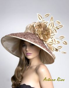 Couture Derby HatLampshade hat by ArturoRios on Etsy, $230.00