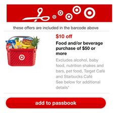 Target Coupon | HOT Coupon for $10 Off $50 Food & Beverage Purchase