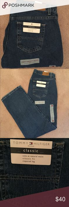 🆕 Tommy Hilfiger Classic Jeans 💯% authentic Tommy Hilfiger Classic Jeans NWT lightweight denim classic fit tapered leg never been worn Tommy Hilfiger Jeans