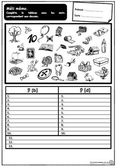 Méli mémo: dictées muettes pour travailler sur les confusions sons visuelles, Cp, Ce1, lecture, écriture