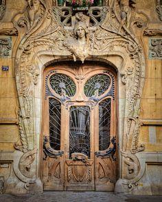 VACATION off- Paris Door Photo Parisian Architecture Photograph France Neutral Colors Brown Beige Tan Pastel Beaux Arts Beaux Arts Architecture, Architecture Art Nouveau, Parisian Architecture, Beautiful Architecture, Interior Architecture, Architecture Apps, Interior Design, Cool Doors, Unique Doors