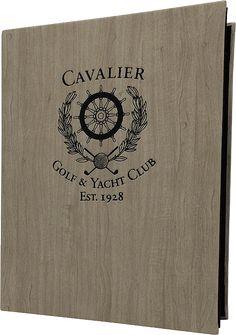 Cavalier Country Club Menu Cover by Menu Designs.