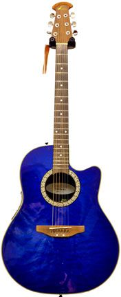 Cobalt Blue Ovation Celebrity guitar yeah, I know...it's not purple...but it's for Matt  ♥