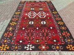 Vintage-Turkish-Wool-Rug-Antalya-Kilim-Rug-75-5-034-x-134-2-034-Area-Rug-Kelim-Carpet