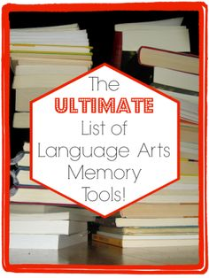 A great resource list for language arts memory tools.