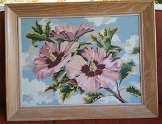 Vintage-Paint-By-Number-Hibiscus-in-Bloom-Large-PBN-Tropical-Pink-Flowers