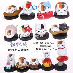 Buy Anime Natsume Yuujinchou Mini Action Figures Cat Nyanko Sensei PVC Figure Toys Dolls Set of 13 NYFG002 Online with the Low Price: $24.42 | DHgate.com