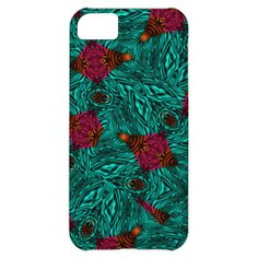 Teal Pink Orange Mix Abstract Patterned phone cases