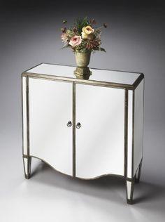 Masterpiece 2 Door Chest 38W x 37H x 14D. Finish: Mirror.  #Butler #Home