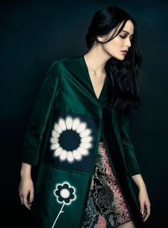 Li Wei in coat by Prada, photographed by Zhang Jingna for Fashion Gone Rogue