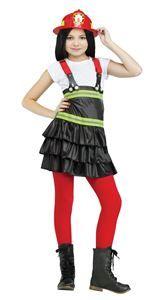 Fire Chief Cutie Girl Child Costume - 328355 | Via Halloween Club #halloweencostumes #girlscostumes #childrenscostumes #firefightercostumes