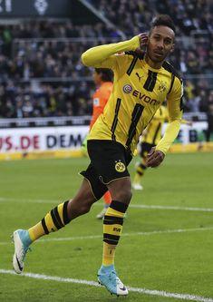 Pierre-Emerick Aubameyang of Borussia Moenchengladbach and Gabon