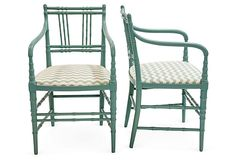 Faux-Bamboo Chairs, Pair on OneKingsLane.com
