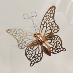 Vintage Gold Filigree Butterfly Pin by DesignsbyAlladania on Etsy, $5.00
