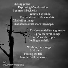 Dark and aberrant poetry by me.  Follow the link below for more of my poetry, Alternatively follow me on Instagram @ravens.writingdesk Cut The Ropes, My Poetry, Writing Desk, Ravens, Follow Me On Instagram, Daydream, Dark, Desktop, Crow