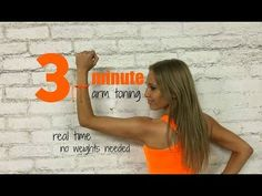 3 Minute Arm Workout - Get Rid of Bingo Wings and Tone Your Arms - YouTube