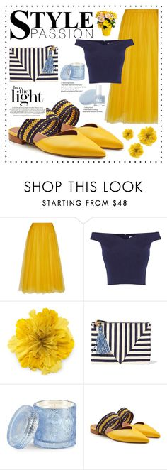 """""""Passion"""" by irixiketa ❤ liked on Polyvore featuring Rochas, Coast, Gucci, Clare V., D.L. & Co. and Malone Souliers"""