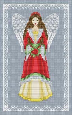 Cross stitch pattern by Avrora CS  #crossstitch #xstitch #xstitching #crossstitchpattern #xstitchpattern #angel #christmas