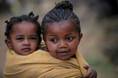 Babies taking care of babies...not an uncommon sight when I was in both Ethiopia and the Philippines.