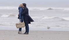Emmanuel y Brigitte Macron, en una playa de Touquet.