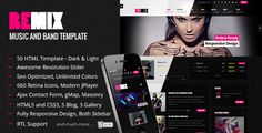Remix - Music and Band HTML5 Template