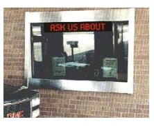 AD Systems' #ultra-bright LED Window #signs Series are programmable text message centers designed and tested to hang in roomfront windows.