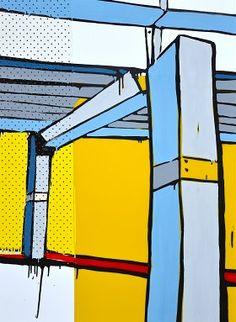 Jasper Knight Landscape Paintings, Landscapes, Gcse Art, Urban Art, Painting Inspiration, Still Life, Jasper, Geometry, Knight