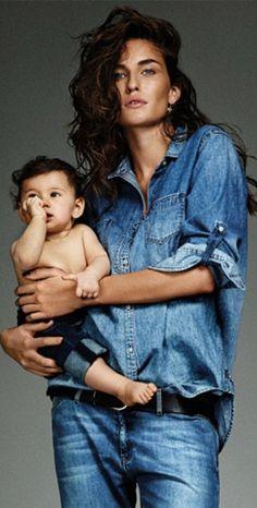 'Baby Blue' Photoshoot Stars Marjolaine Rocher - Glamour France December 2013