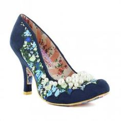 Irregular Choice Pearly Girly 3614-48E Womens Court Shoes - Navy