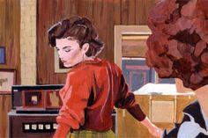 """Digitaldruck - Kunstdruck Acrylbild """"Audrey's Dance"""", Twin Peaks - ein Designerstück von Biberklau bei DaWanda"""
