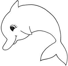 ausmalbild delfin 1 | Летнее | vorlagen, malvorlagen e