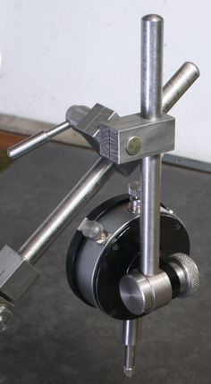Accessories for use with the a Dial Test Indicator, or a Dial Indicator, but with other uses, typically, a machine gaurd holder. Metal Lathe Tools, Metal Lathe Projects, Diy Lathe, Metal Working Tools, Homemade Lathe, Homemade Tools, Cnc Lathe Machine, Bullet Crafts, Fabrication Tools