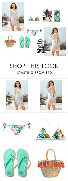 """cover up"" by jbillington ❤ liked on Polyvore featuring Amir Slama, Hollister Co., Flora Bella, PBteen, beachday, beach, coverUp, beachcoverup and sandinmytoes"