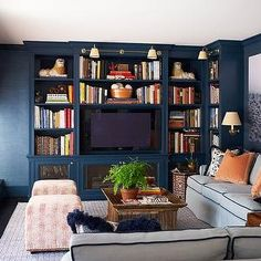 Built In TV Cabinet, Contemporary, living room, Ashley Whittaker Design