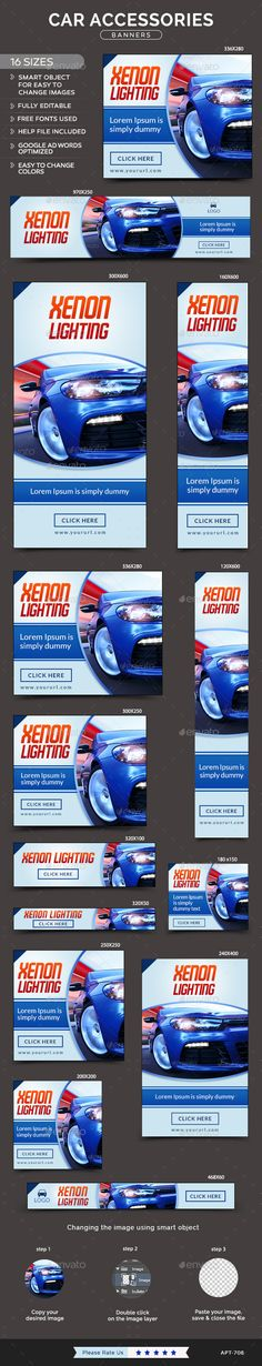 Car Rental Banners Banners, Web banners and Banner template - car ad template