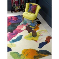 Calum rug | bluebellgray AW13 Archie Collection A painterly rug from Bluebell gray.