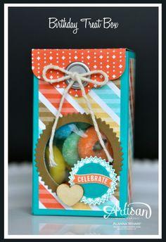 Artisan Wednesday Wow ~ 2-4-6-8 Birthday Treat Box ~ Sleepless Stamper *photo tutorial