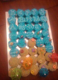 Beach Birthday Cupcakes