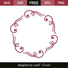 *** FREE SVG CUT FILE for Cricut, Silhouette and more *** Hearts Monogram Frame
