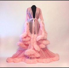 coat robe lingerie fur robe