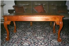 Carves Mahogany Coffee Table Cabriole Claw and Ball Leg Fine Furniture, Furniture Design, Mahogany Coffee Table, Art Direction, Dining Bench, Carving, Crafts, Home Decor, Manualidades