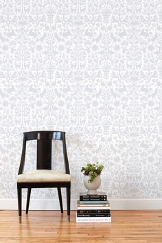 WANT.  Hygge & West - Otomi-inspired removable/reusable fabric wallpaper (!?!)