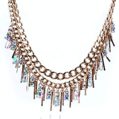 Ojshang New Fashion AB Crystal Choker Necklace For Women Multilayer Tassel Bib Collar Gold Necklaces Maxi Jewelry Accessories #Affiliate