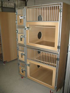 Burlington cat hotel units - made by Gator Kennels Custom Dog Kennel, Cat Kennel, Show Rabbits, Pet Cafe, Cat Gym, Cat Hotel, Cat Cages, Pet Clinic, Cat Enclosure