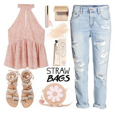 """""""#Straw bags #summer #contest entry"""" by lisamichele-cdxci ❤ liked on Polyvore featuring MANGO, Elina Linardaki, Accessorize, Eve Lom, Bobbi Brown Cosmetics, Summer and strawbags"""