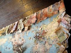 Money and pins from your travels.